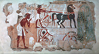 Egyptian Tomb Paintings:  The Assessment of Crops,  c. 1400 BC.  Trustees of the British Museum.  Reference only.