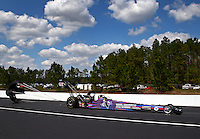 Mar 15, 2014; Gainesville, FL, USA; NHRA top fuel dragster driver J.R. Todd during qualifying for the Gatornationals at Gainesville Raceway Mandatory Credit: Mark J. Rebilas-USA TODAY Sports