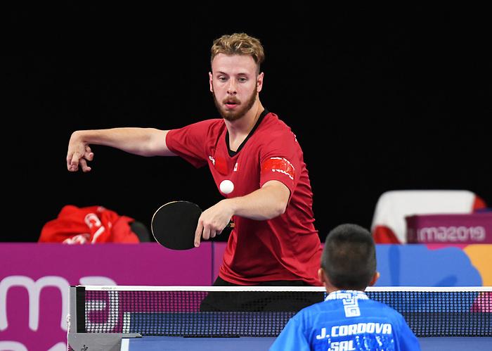 Curtis Caron, Lima 2019 - Para Table Tennis // Para tennis de table.<br /> Curtis Caron competes in Para Table Tennis // Curtis Caron participe en Para tennis de table. 22/08/2019.