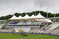 A general view of the pavilions at the Hampshire Bowl during India vs New Zealand, ICC World Test Championship Final Cricket at The Hampshire Bowl on 19th June 2021