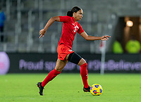 ORLANDO, FL - FEBRUARY 21: Jade Rose #3 of Canada dribbles during a game between Canada and Argentina at Exploria Stadium on February 21, 2021 in Orlando, Florida.