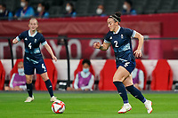 21st July 2021; Sapporo, Japan; Lucy Bronze 2 GBR controls the ball during the womens Olympic Football Tournament Tokyo 2020 match between Great Britain and Chile at Sapporo Dome in Sapporo, Japan. Great Britain won the game by a score of 2-0