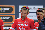 Bauke Mollema (NED) Trek-Segafredo at sign on before the start of the 99th edition of Milan-Turin 2018, running 200km from Magenta Milan to Superga Basilica Turin, Italy. 10th October 2018.<br /> Picture: Eoin Clarke | Cyclefile<br /> <br /> <br /> All photos usage must carry mandatory copyright credit (© Cyclefile | Eoin Clarke)