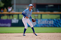 Buffalo Bisons shortstop Kevin Vicuna (63) during an International League game against the Pawtucket Red Sox on August 25, 2019 at Sahlen Field in Buffalo, New York.  Buffalo defeated Pawtucket 5-4 in 11 innings.  (Mike Janes/Four Seam Images)