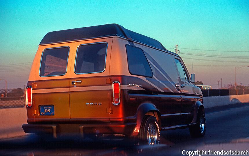 Los Angeles: Van driving south, Harbor Freeway.
