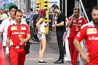 MONACO FORMULA ONE Barbara Palvin and Lewis Hamilton.