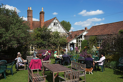 Great Britain, England, Wiltshire, Lacock: King John Hunting Lodge Tea Rooms and Garden