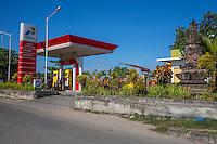 Jimbaran, Bali, Indonesia.  Gas Station, Petrol Station.
