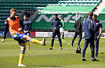 Hibs v St Johnstone…01.05.21  Easter Road. SPFL<br />Murray Davidson pictured during the warm up<br />Picture by Graeme Hart.<br />Copyright Perthshire Picture Agency<br />Tel: 01738 623350  Mobile: 07990 594431