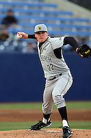 February 21 2010: Branden Pinder of Cal. St. Long Beach during game against Cal. St. Fullerton at Goodwin Field in Fullerton,CA.  Photo by Larry Goren/Four Seam Images