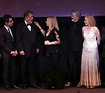 Ben Stiller, George Segal, Barbra Streisand, Kris Kristofferson and Amy Irving during the Presentation for the 40th Annual Chaplin Award Gala Honoring Barbra Streisand at Avery Fisher Hall in New York City on 4/22/2013.