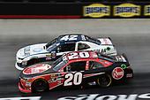 #42: Kyle Larson, Chip Ganassi Racing, Chevrolet Camaro DC Solar, #20: Christopher Bell, Joe Gibbs Racing, Toyota Camry Rheem