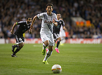 Goal scorer Son Heung-Min of Tottenham Hotspur chases down the ball during the UEFA Europa League match between Tottenham Hotspur and Qarabag FK at White Hart Lane, London, England on 17 September 2015. Photo by Andy Rowland.