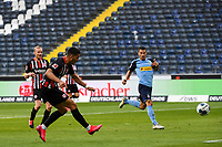 16th May 2020, Commerzbank-Arena, Frankfurt, Germany; Bundesliga football, Eintracht Frankfurt versus Borussia Moenchangladbach; Goal scored for 1:3 by Andre Silva Eintracht Frankfurt