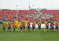 July 20, 2013: The Columbus Crew during the opening ceremonies in a game between Toronto FC and the Columbus Crew at BMO Field in Toronto, Ontario Canada.<br /> Toronto FC won 2-1.