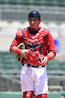 GCL Red Sox catcher Alex McKeon (37) during a game against the GCL Rays on June 25, 2014 at JetBlue Park at Fenway South in Fort Myers, Florida.  GCL Red Sox defeated the GCL Rays 7-0.  (Mike Janes/Four Seam Images)
