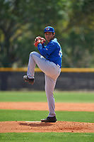 Toronto Blue Jays pitcher Rafael Ohashi (60) during an exhibition game against the Canada Junior National Team on March 8, 2020 at Baseball City in St. Petersburg, Florida.  (Mike Janes/Four Seam Images)