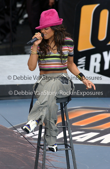 """Janet Jackson performs live """"On Air with Ryan Seacrest to her promote her new album Damita Jo held at Hollywood & Highland on April 2,2004.(Pictured:Janet Jackson). Copyright 2004 by RockinExposures"""