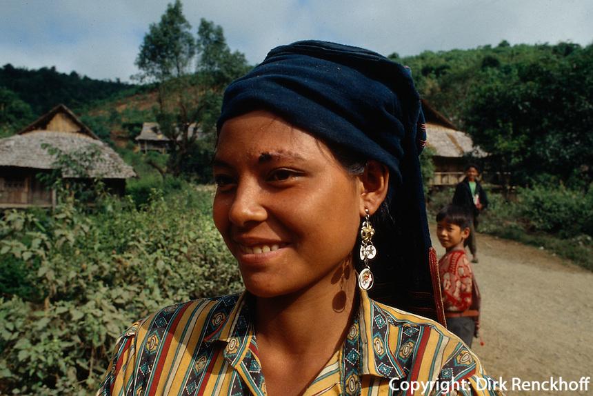 Khmu (= Xa) -Minderheit in der Lai Chau-Provinz, Vietnam