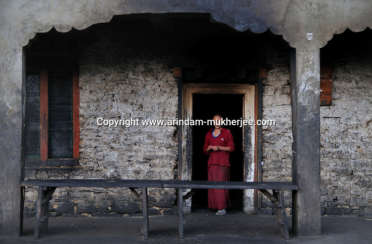 A young lama at Kharchhu Monastry, Bumthang. Arindam Mukherjee.