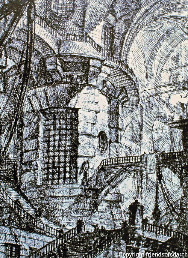 Giovanni Battista Piranesi(1720-1778), a famous Italian artist known for his etchings of Rome and imaginary prisons.