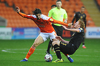 Milton Keynes Dons' Dean Lewington is fouled by Blackpool's Jordan Williams<br /> <br /> Photographer Kevin Barnes/CameraSport<br /> <br /> The EFL Sky Bet League One - Blackpool v Milton Keynes Dons - Saturday 24 October 2020 - Bloomfield Road - Blackpool<br /> <br /> World Copyright © 2020 CameraSport. All rights reserved. 43 Linden Ave. Countesthorpe. Leicester. England. LE8 5PG - Tel: +44 (0) 116 277 4147 - admin@camerasport.com - www.camerasport.com