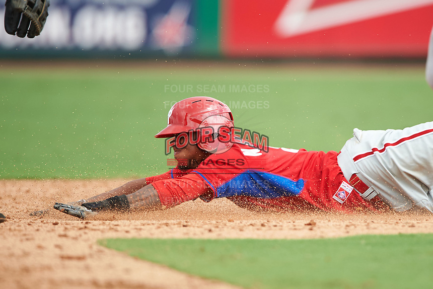Philadelphia Phillies Nick Williams (5) during an instructional league game against the New York Yankees on September 29, 2015 at Brighthouse Field in Clearwater, Florida.  (Mike Janes/Four Seam Images)
