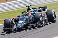 16th July 2021; Silverstone Circuit, Silverstone, Northamptonshire, England; F2 British Grand Prix, Free Practice; Alessio Deledda in his HWA Racelab Dallara F2 2018