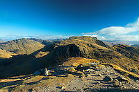 Beinn Narnain from The Cobbler, the Arrochar Alps, Loch Lomond and the Trossachs National Park, Argyll & Bute