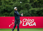 Anne-Lise Caudal of France tees off at the 17th hole during Round 1 of the World Ladies Championship 2016 on 10 March 2016 at Mission Hills Olazabal Golf Course in Dongguan, China. Photo by Victor Fraile / Power Sport Images