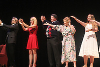 """Curtain Call: Grant Aleksander - Cynthia Watros - Michael O'Leary - Tina Sloan - Emma Gilliland - Guiding Light's Michael O'Leary author of """"Breathing Under Dirt"""" - full play - had its world premier on August 13 and 14, 2016 at the Ella Fitzgerald Performing Arts Center, University of Maryland Eastern Shore, Princess Anne, Maryland  (Photo by Sue Coflin/Max Photos)"""