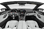 Stock photo of straight dashboard view of 2021 BMW M8 M8-Competition 2 Door Coupe Dashboard