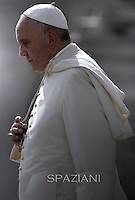 Pope Francis during his weekly general audience in St. Peter square at the Vatican, Wednesday.October 1, 2014