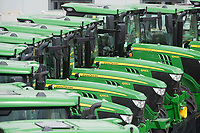 5-8-2021 New John Deere Tractors at dealers <br /> ©Tim Scrivener Photographer 07850 303986<br />      ....Covering Agriculture In The UK....