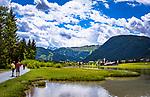 Oesterreich, Tirol, Pillerseetal, St. Ulrich am Pillersee mit der alten Pfarrkirche | Austria, Tyrol, Pillersee Valley, St. Ulrich at Lake Pillersee with old parish church