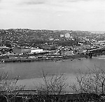 Pittsburgh PA:  View of Pittsburgh's Northside with Allegheny General Hospital in the background.