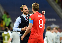 MOSCU - RUSIA, 03-07-2018: Gareth SOUTHGATE, técnico, y Harry KANE jugador de Inglaterra celebran después del partido de octavos de final entre Colombia y Inglaterra por la Copa Mundial de la FIFA Rusia 2018 jugado en el estadio del Spartak en Moscú, Rusia. / Gareth SOUTHGATE, coach, and Harry KANE player of England celebrate after the match between Colombia and England of the round of 16 for the FIFA World Cup Russia 2018 played at Spartak stadium in Moscow, Russia. Photo: VizzorImage / Julian Medina / Cont