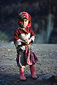 Iran 1982.A little girl on the roof of the  house in Engawe