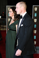 Prince William and Catherine, Duchess of Cambridge<br /> arriving for the BAFTA Film Awards 2018 at the Royal Albert Hall, London<br /> <br /> <br /> ©Ash Knotek  D3381  18/02/2018
