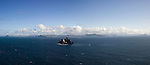 A panoramic view of Little Skellig Rock off the Kerry coast in Ireland where Gannets, Ireland's largest seabirds, fly around. In October the birds  migrate towards the west coast of Africa before returning again in Spring..Picture by Don MacMonagle