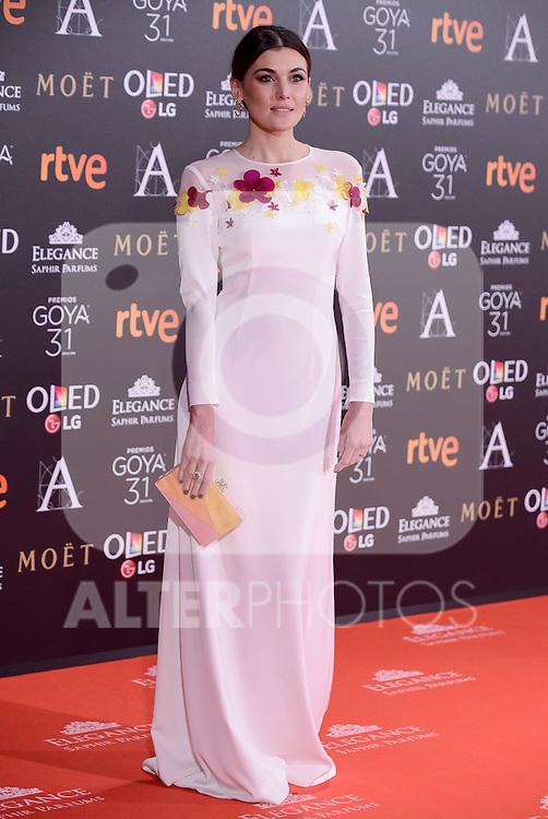 Marta Nieto attends to the Red Carpet of the Goya Awards 2017 at Madrid Marriott Auditorium Hotel in Madrid, Spain. February 04, 2017. (ALTERPHOTOS/BorjaB.Hojas)