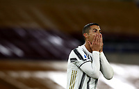Football, Serie A: AS Roma - Juventus, Olympic stadium, Rome, September 27, 2020. <br /> Juventus' Cristiano Ronaldo reacts during the Italian Serie A football match between Roma and Juventus at Olympic stadium in Rome, on September 27, 2020. <br /> UPDATE IMAGES PRESS/Isabella Bonotto
