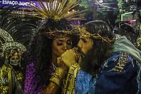 RIO DE JANEIRO (RJ) 29.02.2020 - Carnaval - Rio Escola de samba Estacao Primeira de Mangueira no desfile das campeas das escolas de samba do Grupo Especial do Rio de Janeiro neste sabado (29) na Marquues de Sapucai. Rainha da bateria Evelyn Bastos (Foto: Ellan Lustosa/Codigo 19/Codigo 19)