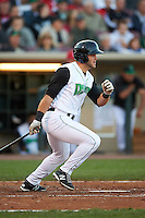 Dayton Dragons designated hitter Jimmy Pickens (9) at bat during a game against the Great Lakes Loons on May 21, 2015 at Fifth Third Field in Dayton, Ohio.  Great Lakes defeated Dayton 4-3.  (Mike Janes/Four Seam Images)