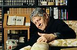 Losanna 1992,Hugo Pratt nella sua casa ; Hugo Pratt in his house in Losanna- 1992