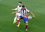 Atletico de Madrid's Koke Resurrecccion (r) and Real Madrid's Daniel Carvajal during Supercup of Spain 2nd match.August 19,2014. (ALTERPHOTOS/Acero)