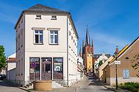 Gasse zur Heilig-Geist-Kirche, Altstadtinsel Werder (Havel), Potsdam-Mittelmark, Brandenburg, Deutschland