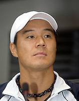 18-9-08, Netherlands, Apeldoorn, Tennis, Daviscup NL-Zuid Korea, Draw in cityhall,  HyungTaik Lee
