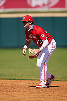 Second baseman Alex Mooney (22) during the Baseball Factory All-Star Classic at Dr. Pepper Ballpark on October 4, 2020 in Frisco, Texas.  Alex Mooney (22), a resident of Rochester Hills, Michigan, attends Orchard Lake St. Mary's Preparatory School.  (Ken Murphy/Four Seam Images)