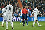 Espanyol´s Salva during 2015/16 La Liga match between Real Madrid and Espanyol at Santiago Bernabeu stadium in Madrid, Spain. January 31, 2016. (ALTERPHOTOS/Victor Blanco)